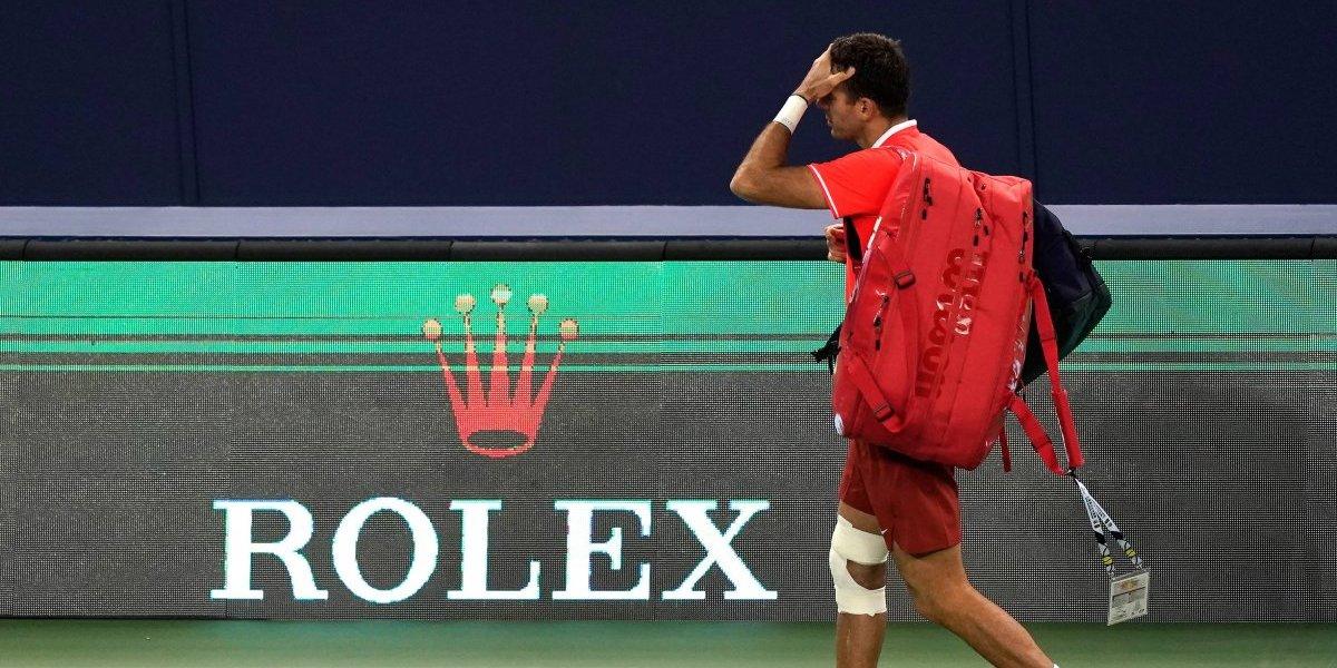 Del Potro sufre lesión en el Masters 1000 de Shangai
