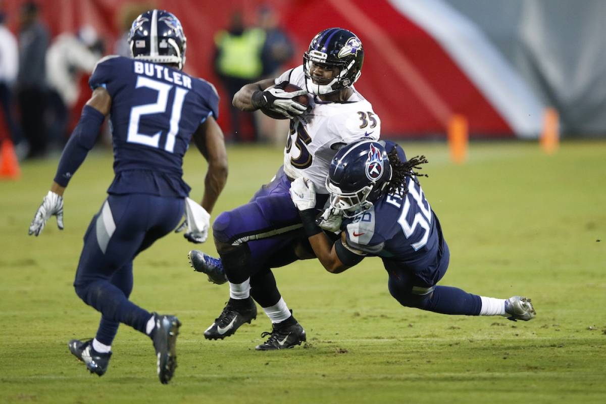 Ravens 21-0 Titans / Getty Images