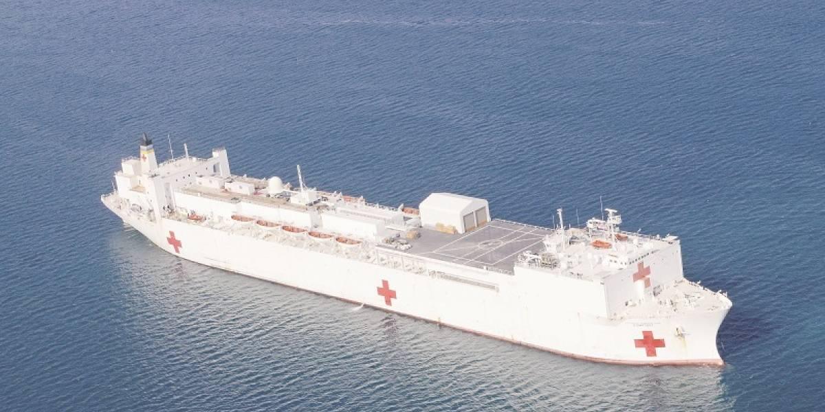 Así es el colosal buque hospital que atenderá a venezolanos
