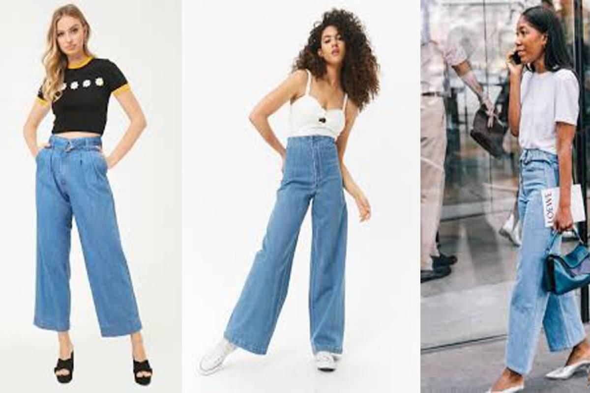 Conoce como debes vestir los Jeans de pierna ancha  9c756dc7d6b8
