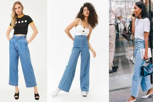 Boutique en ligne 76a55 74ad8 Conoce como debes vestir los Jeans de pierna ancha | Nueva Mujer