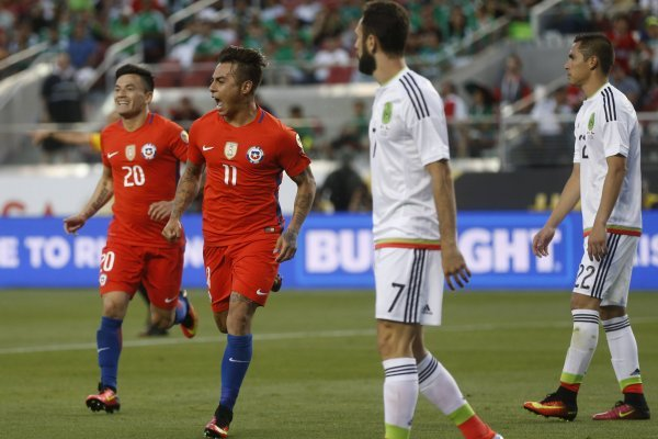 El 7 a 0 es el último registro de Chile ante México / imagen: Photosport