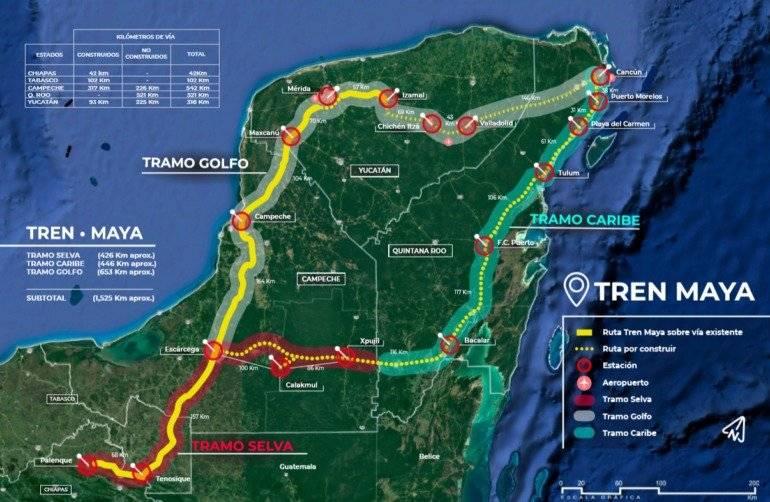 Ruta del Tren Maya Foto: Especial