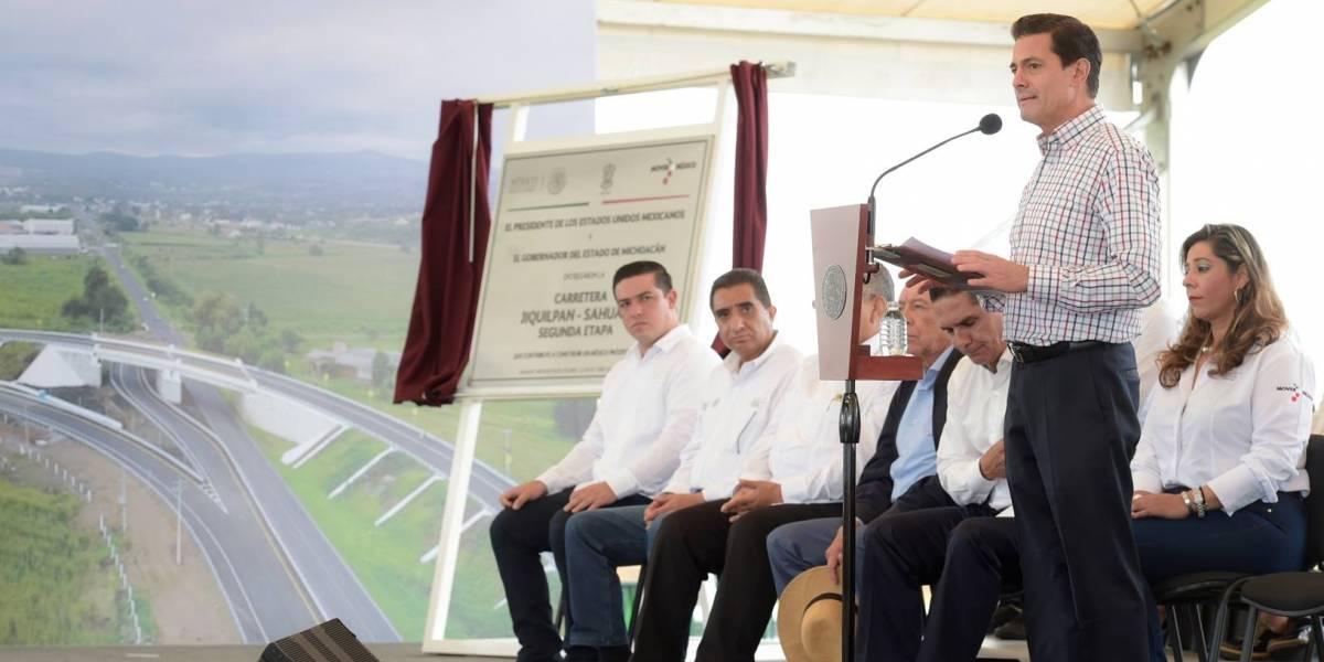 Espera Peña Nieto que AMLO continúe con Tren México-Toluca y NAICM