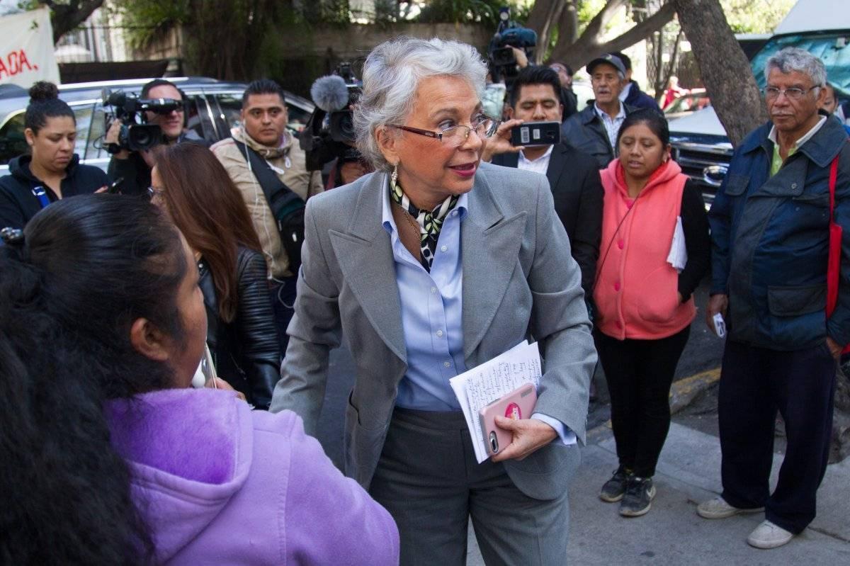 Sánchez Cordero en la casa de transición Foto: Cuartoscuro