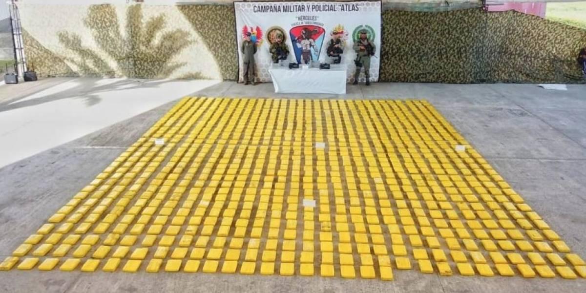 Incautan casi una tonelada de cocaína de alias Guacho en Tumaco