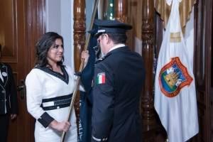 """""""Es un honor estar con Obrador"""": Claudia Rivera al concluir su toma de protesta en Puebla"""