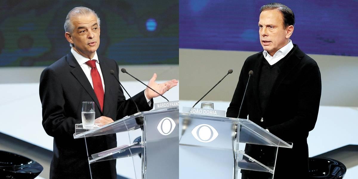 Band define regras do debate para governador de São Paulo, com João Doria e Márcio França
