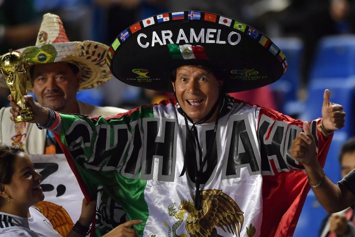 Los aficionados mexicanos ya están instalados en el estadio Corregidora. / Mexsport