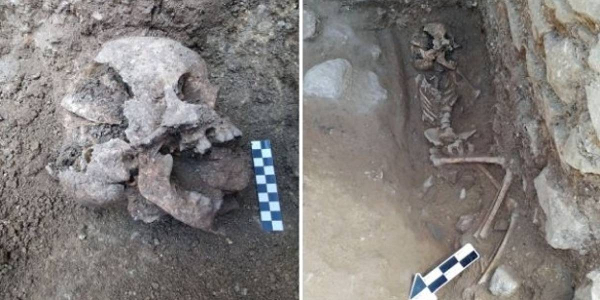 """Desentierran el cuerpo de un """"niño vampiro"""" y arqueólogos quedan conmocionados"""