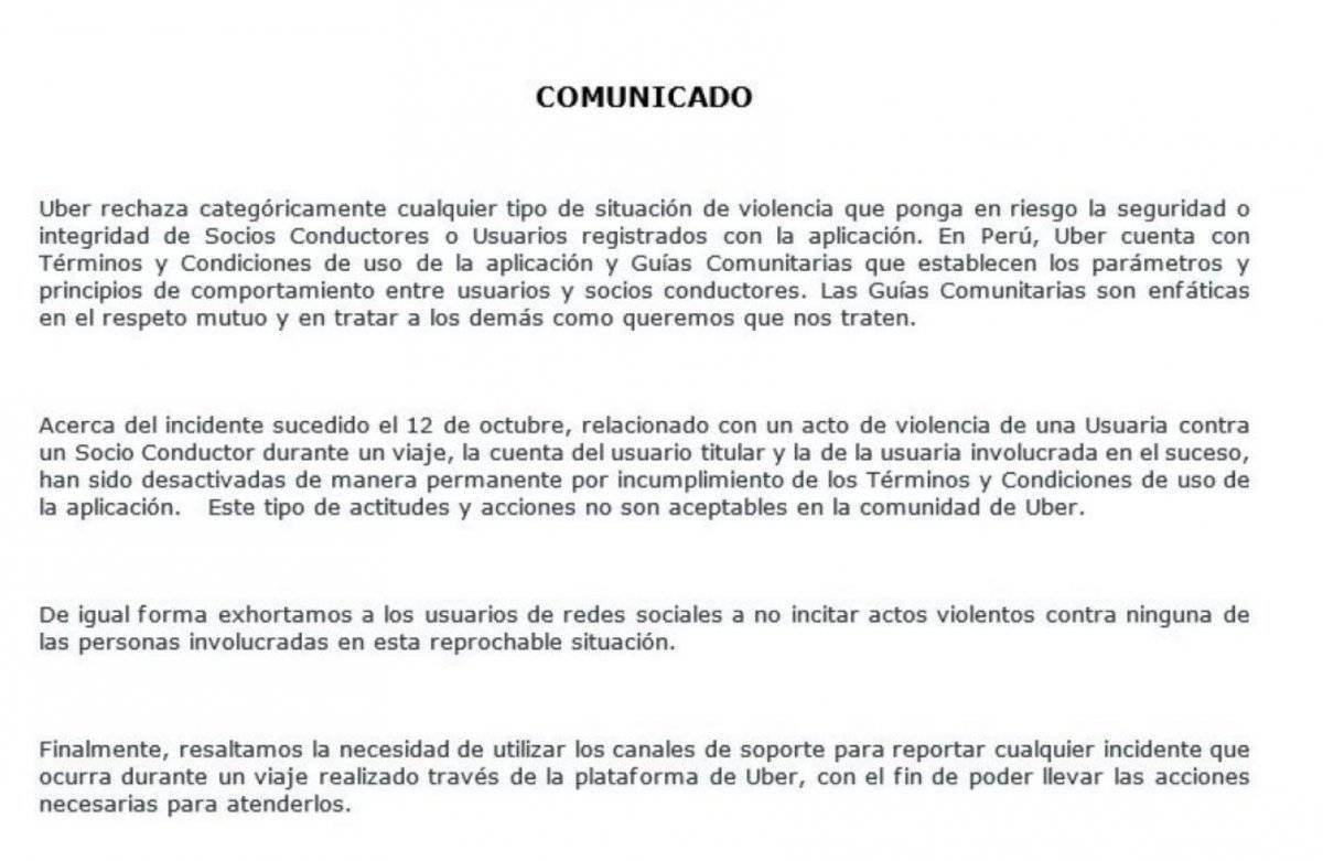 Uber Perú