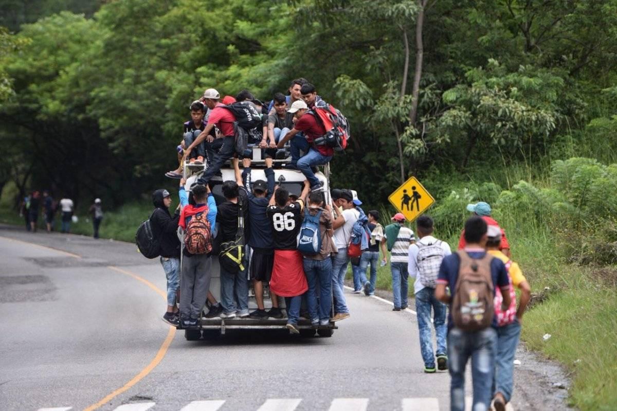 Caravana de migrantes de Honduras llega a Esquipulas, Chiquimula, Guatemala.