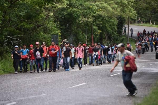 caravana de migrantes de Honduras llega a Esquipulas, Chiquimula, Guatemala