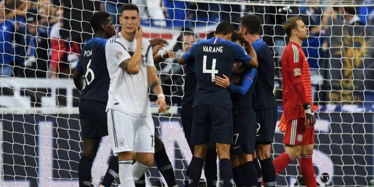 La todapoderosa Francia le pegó en el suelo a la aproblemada Alemania en la Liga de las Naciones