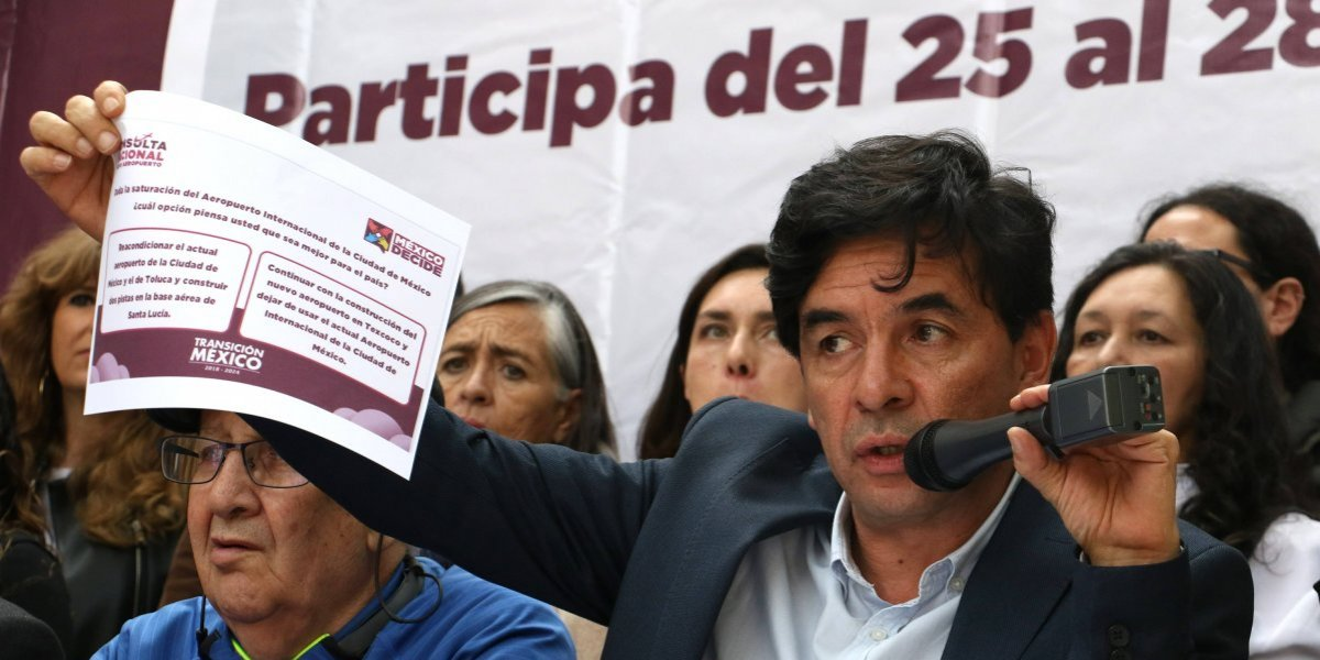 Monreal y Muñoz Ledo rechazan financiar consulta sobre nuevo aeropuerto