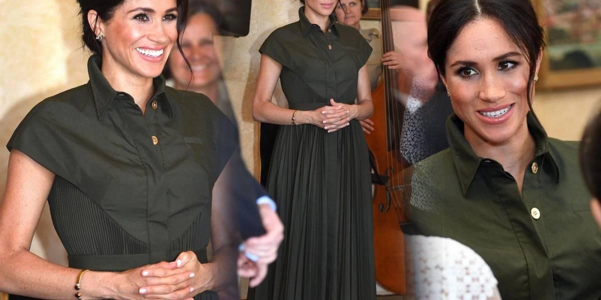 Este es el vestido que tuvieron que rehacerle a Meghan Markle por estar embarazada