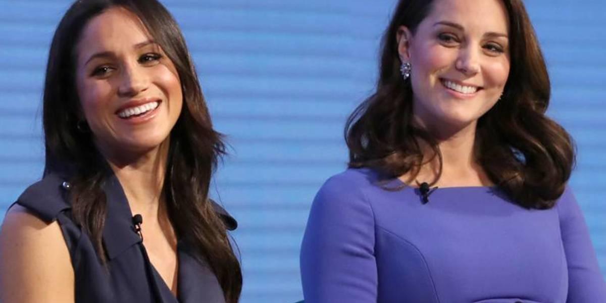 Así fue la reacción de Kate Middleton ante embarazo de Meghan