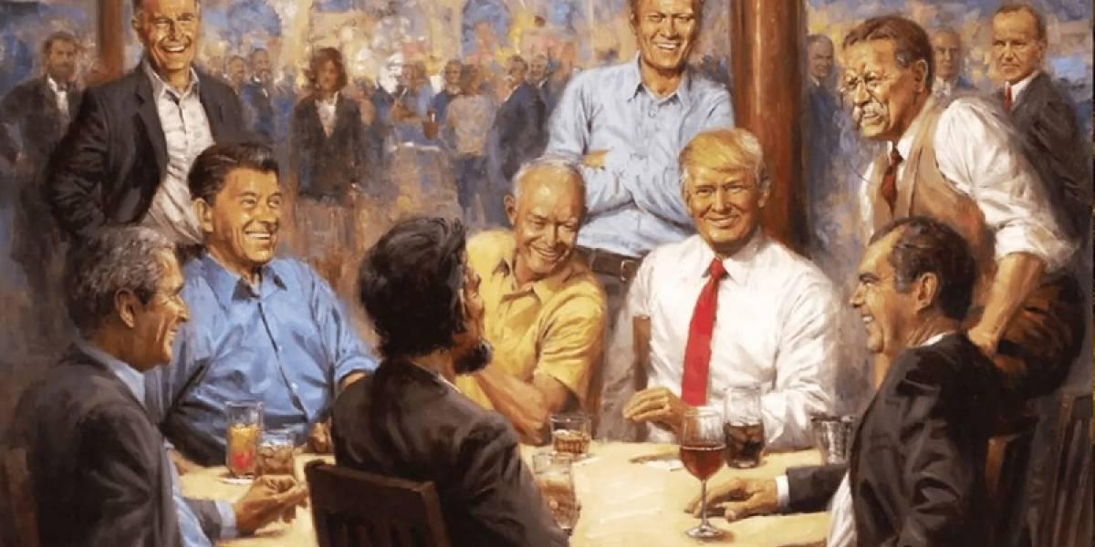 Polémico cuadro que Trump colgó en la Casa Blanca