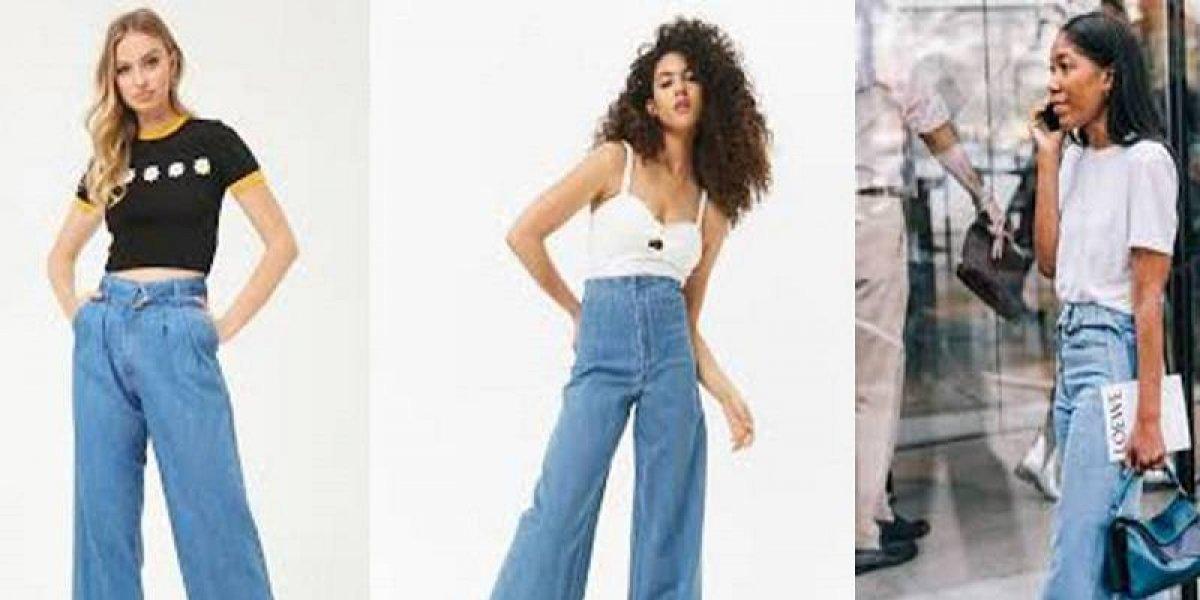 Así debes vestir los jeans de pierna ancha