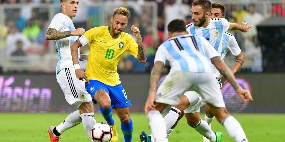 Brasil ganha nos acréscimos da Argentina por 1 x 0