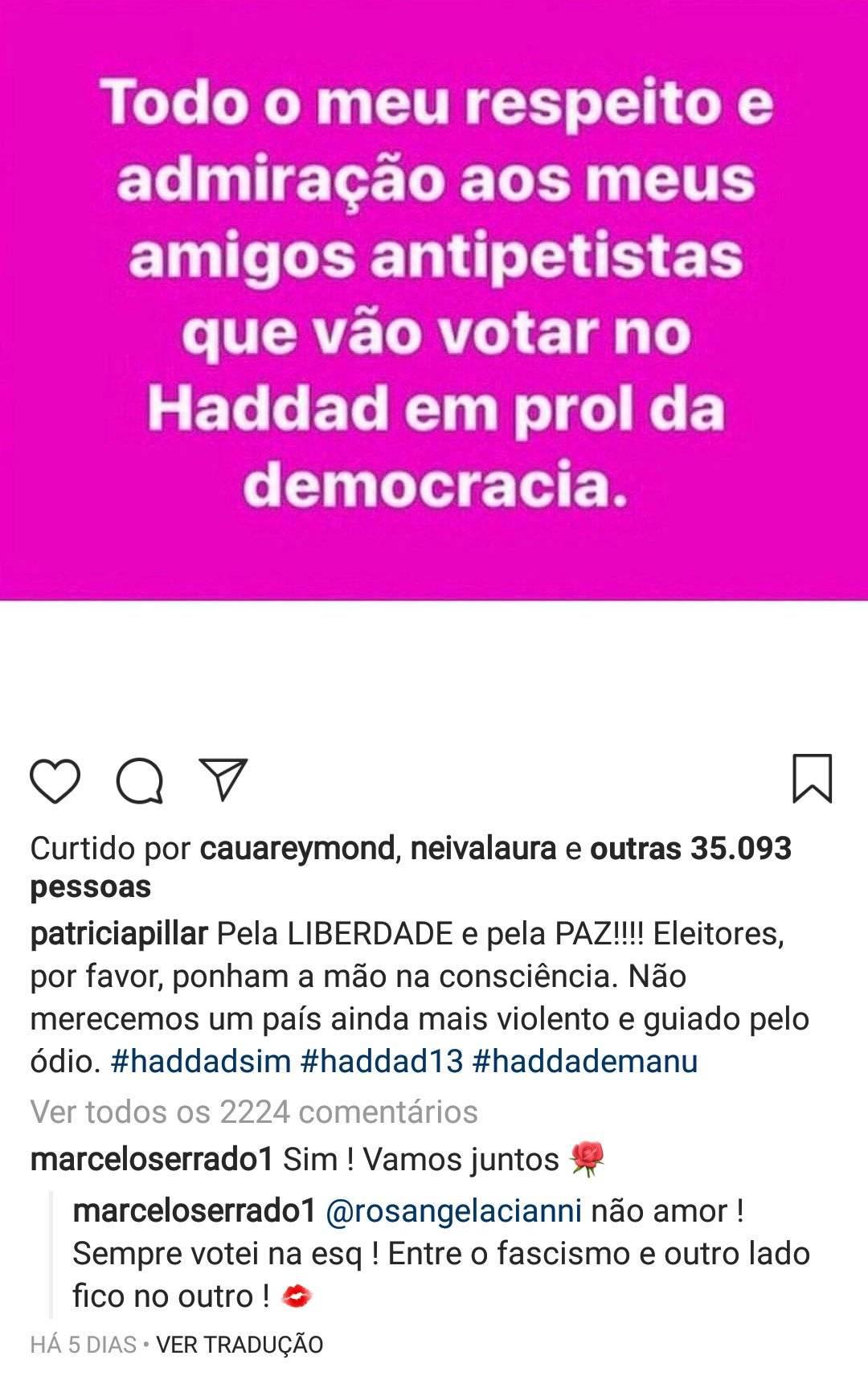 Marcelo Serrado Patrícia Pillar