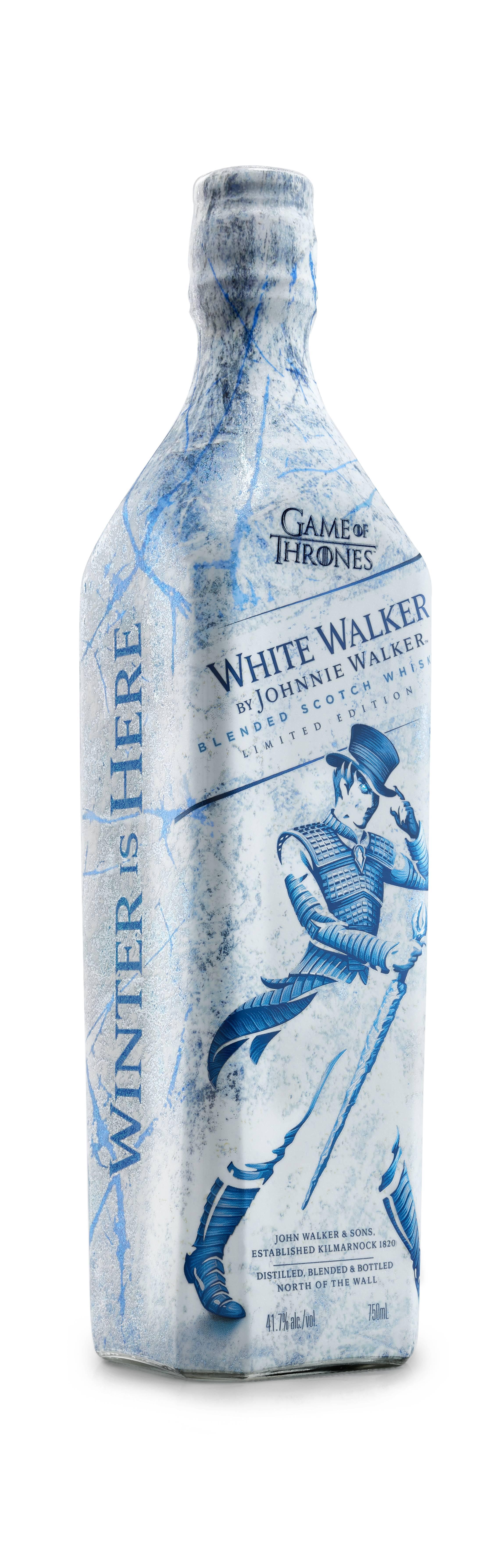 """Durante noviembre saldrá a la venta en el mercado nacional el """"White Walker by Johnnie Walker"""" en homenaje a la serie de HBO."""