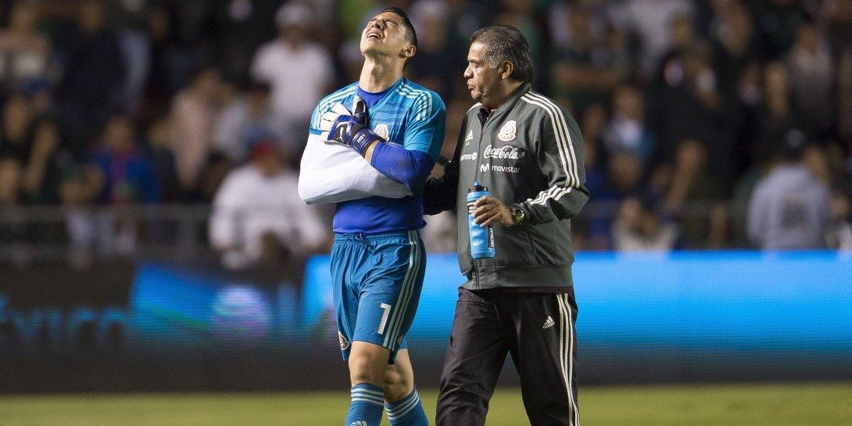 Hugo González, con contusión severa en el hombro
