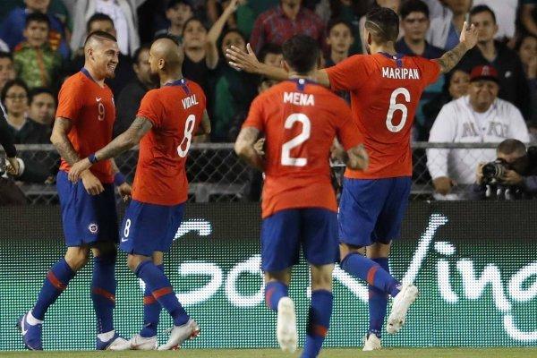 La Roja celebró / imagen: AP