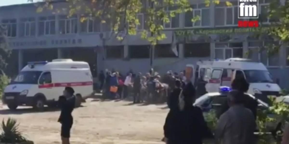 Ataque en escuela deja 19 muertos en Crimea