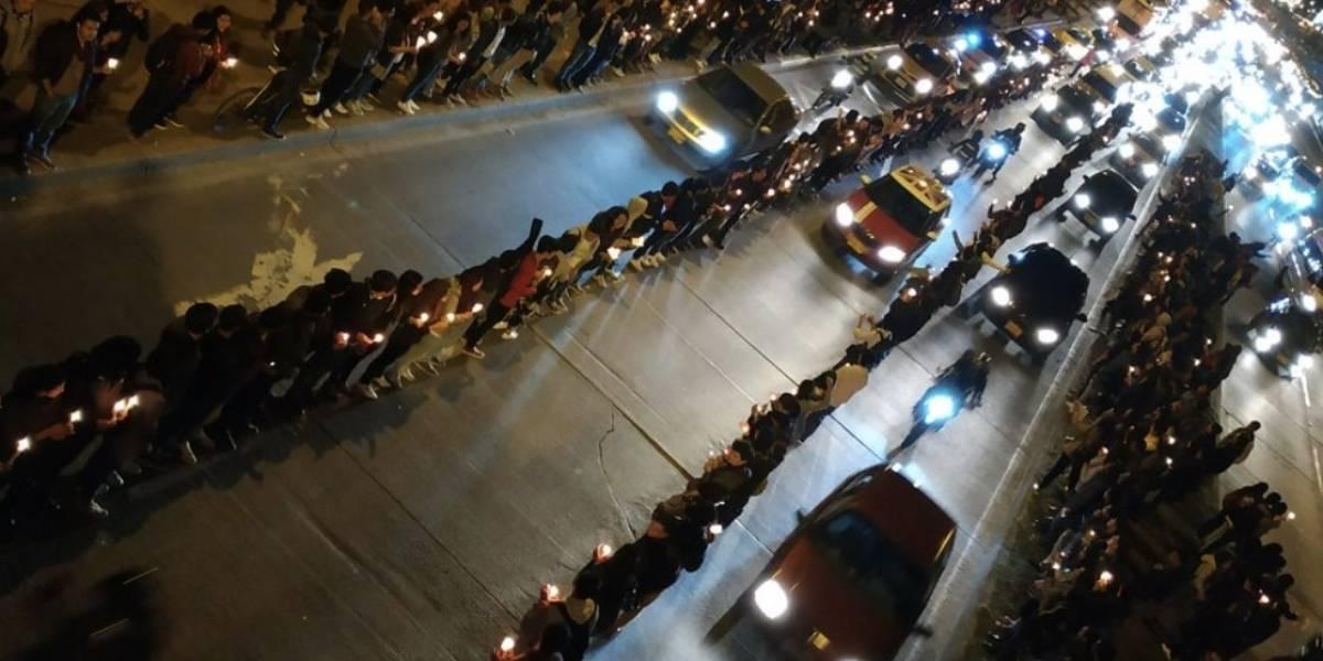 Sin bloquear una sola vía, así protestaron los estudiantes de la Universidad Nacional