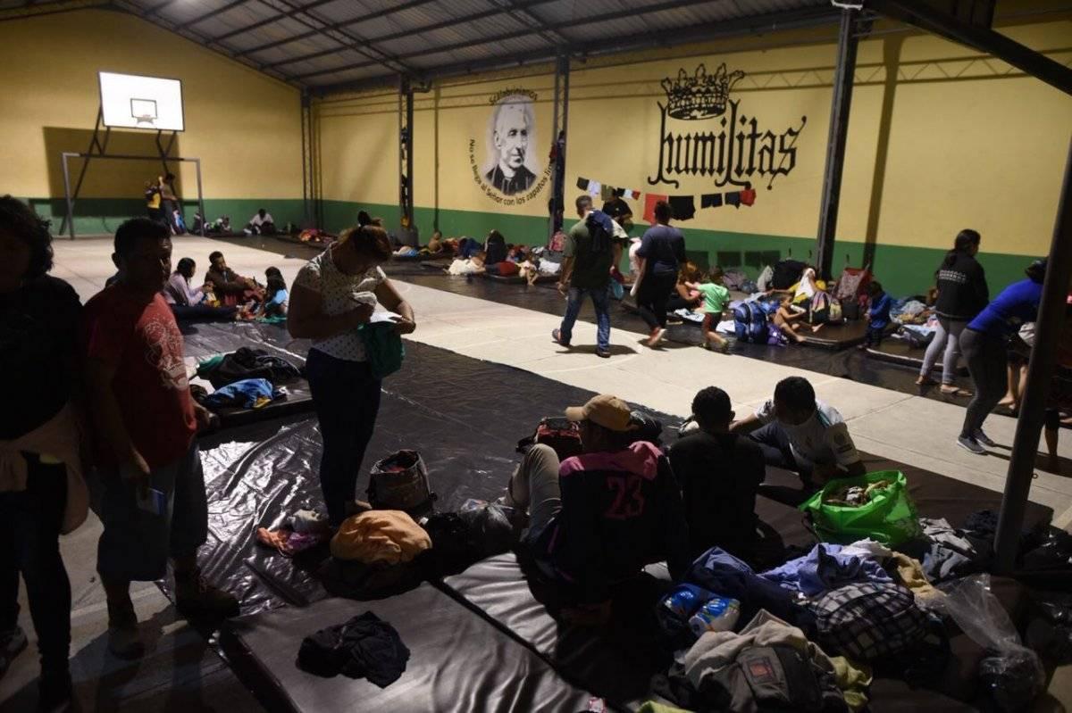 Hondureños llegaron a la Casa del Migrante
