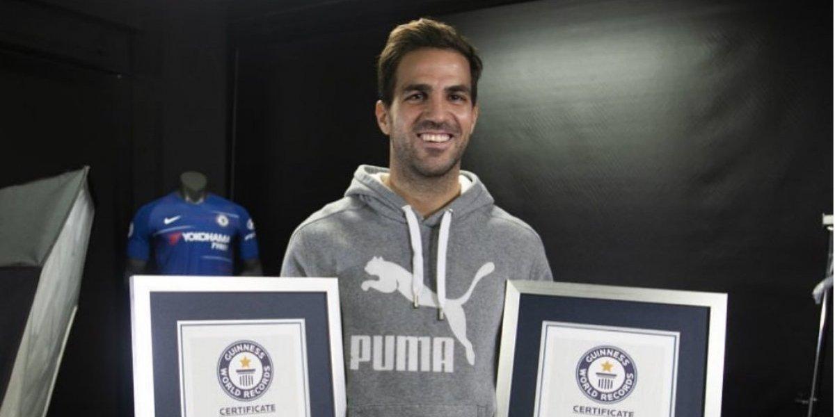 Futbolista Cesc Fábregas entra en el libro Guinness de los Récords