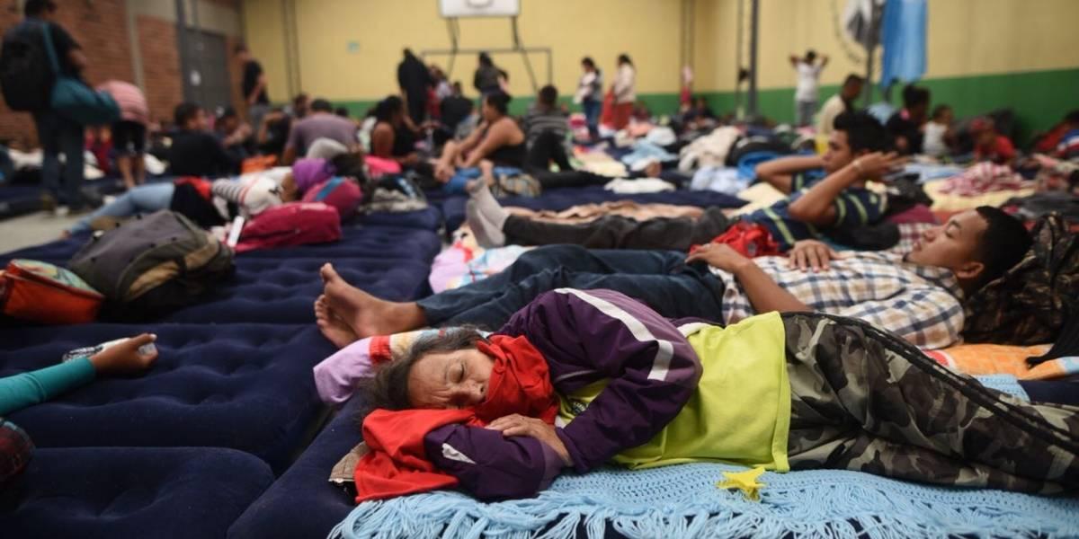 Unos 4 mil 300 migrantes centroamericanos han pedido albergue temporal en capital guatemalteca