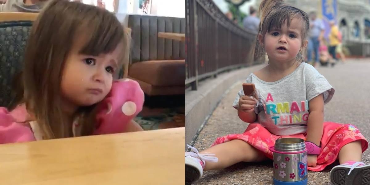 Fofa! Menina de dois anos ganha a internet ao pedir cuscuz na Disney
