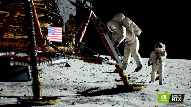 NVIDIA nos vuela la cabeza y recrea misión del Apolo 11 con puras RTX Turing