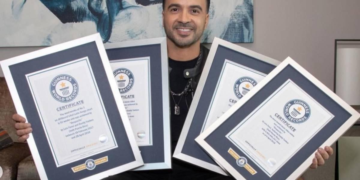 Luis Fonsi recibe siete reconocimientos de Guinness World Records