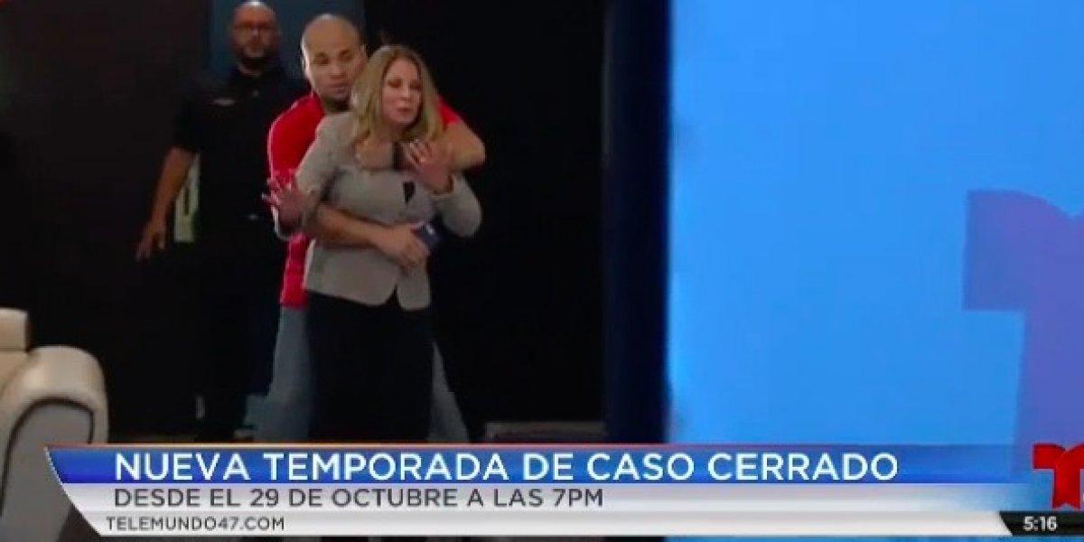 Intentan secuestran a Ana María Polo en pleno programa de Caso Cerrado
