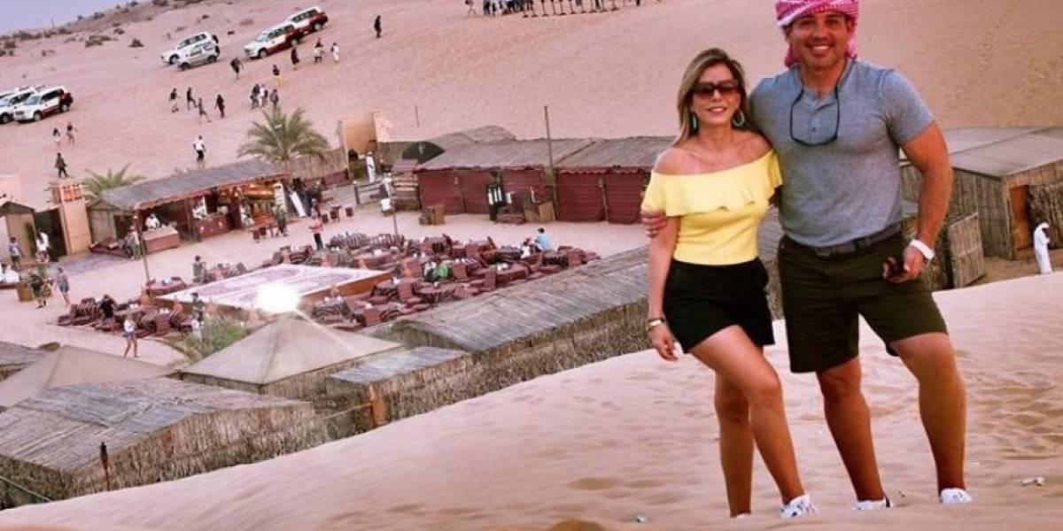 Zugey Lamela y Walter Soto León de luna de miel en Dubai