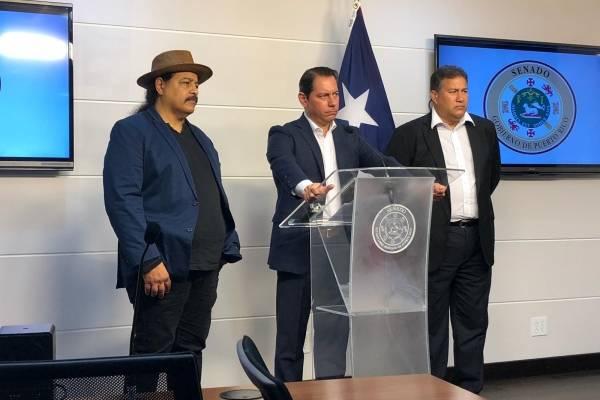 Senadores José Vargas Vidot, Juan Dalmau y Cirilo Tirado. Suministrada