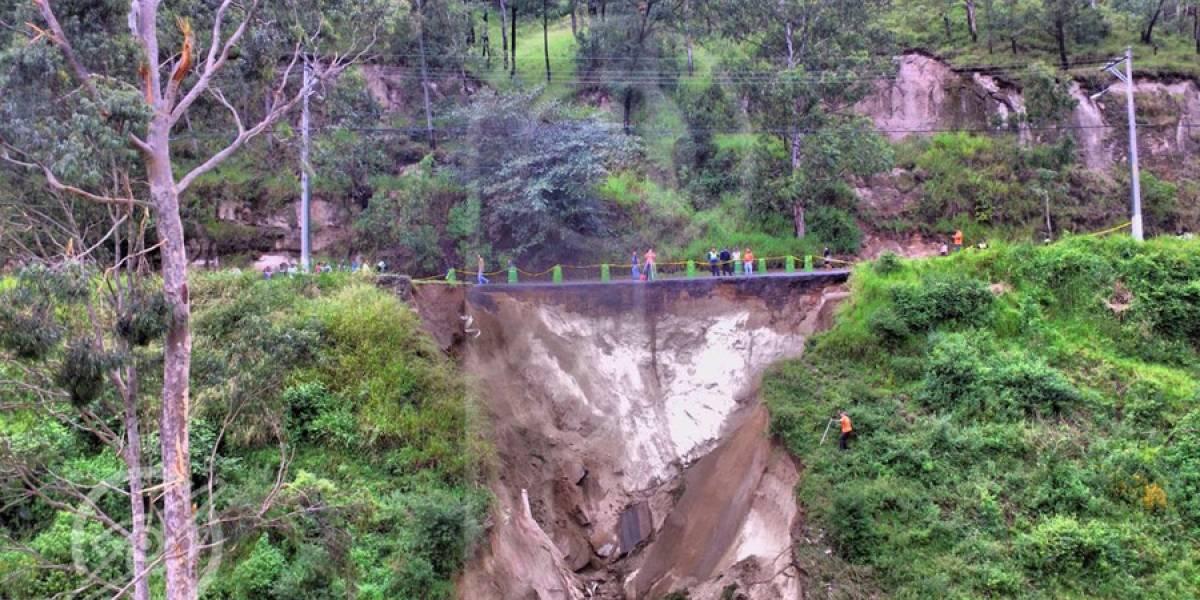 Habilitarán carril temporal en bulevar sur de San Cristóbal tras socavamiento