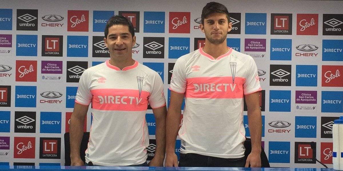 """Con franja rosada: La UC utilizará novedosa camiseta para la """"final"""" ante la U. de Concepción"""