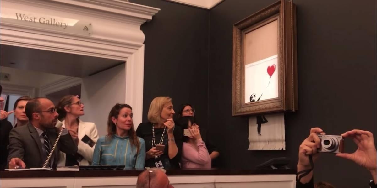 """Niña con globo"" tenía que destruirse totalmente: Banksy"