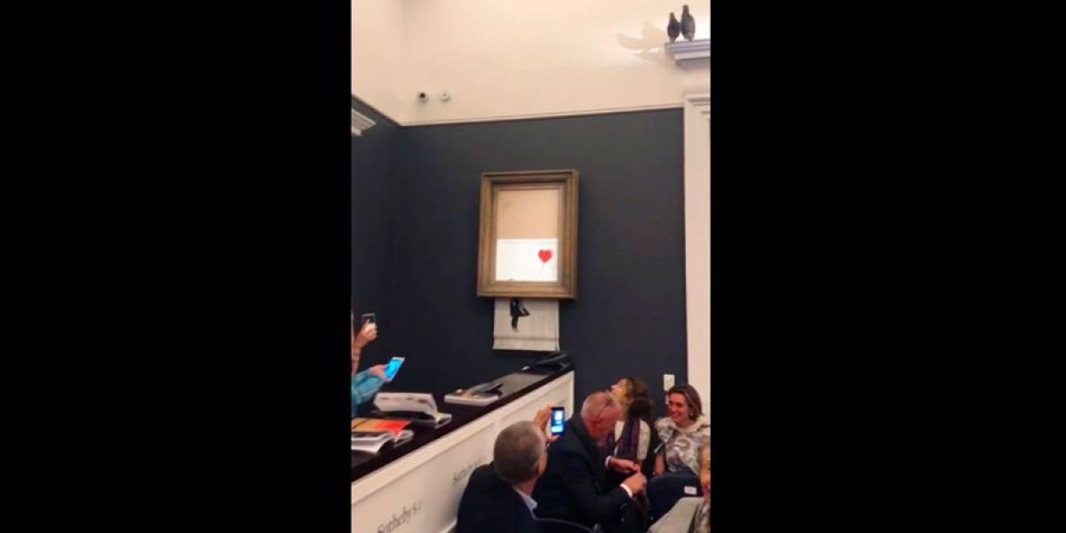 Banksy dice que cuadro suyo debió ser triturado por completo