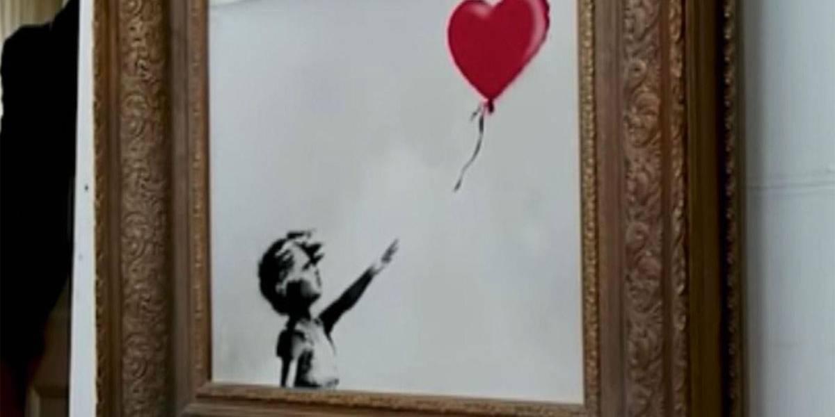 Banksy: mecanismo falhou, obra deveria ter sido totalmente destruída