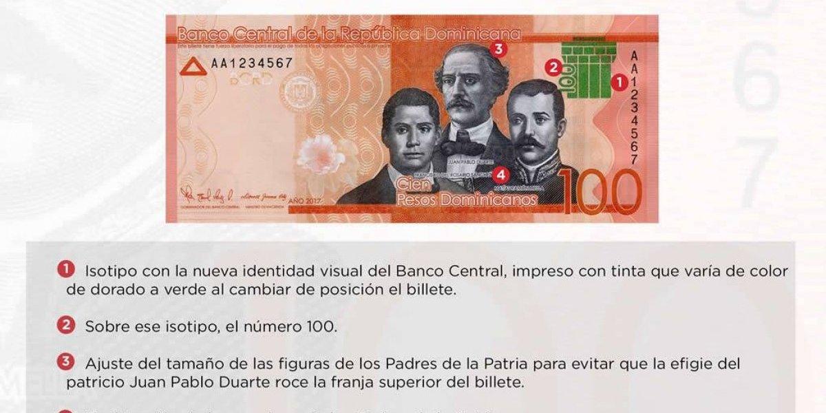 Banco Central pone en circulación nuevo billete de 100 pesos