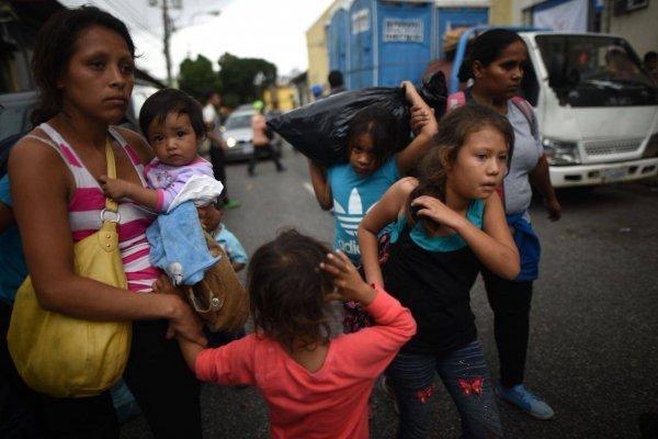 Emigrantes hondureños