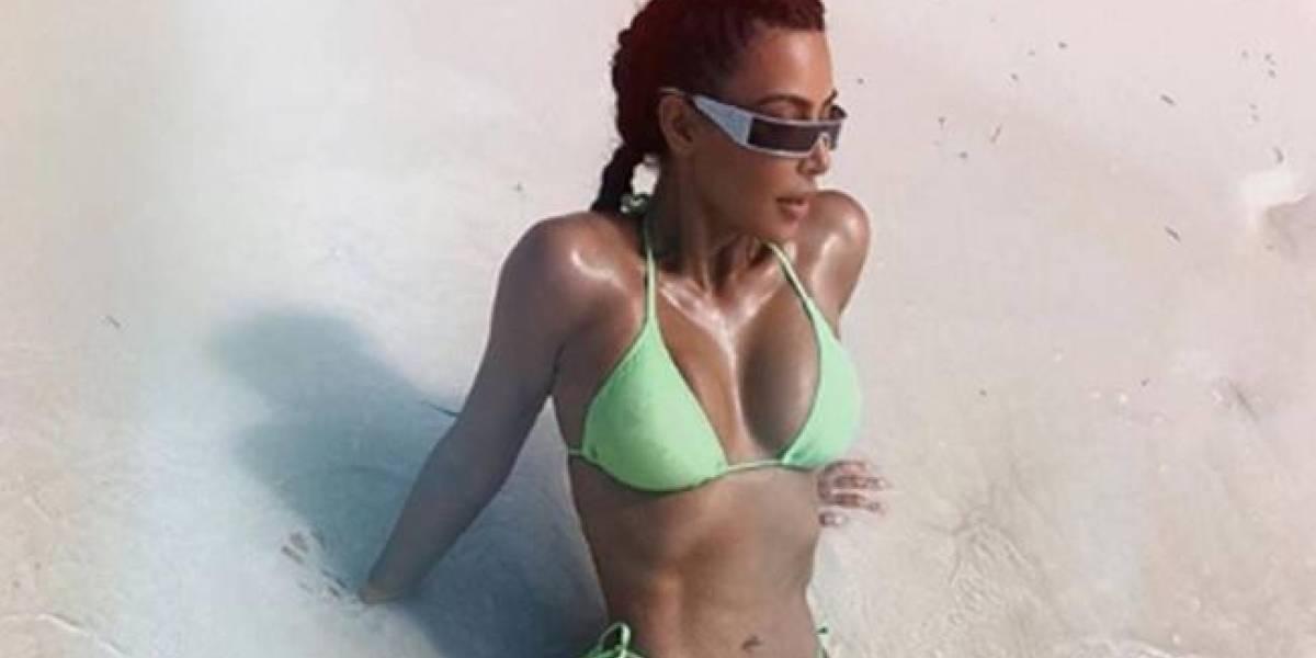 ¡Se la van a borrar! Mira la candente foto que subió Kim Kardashian a su Instagram