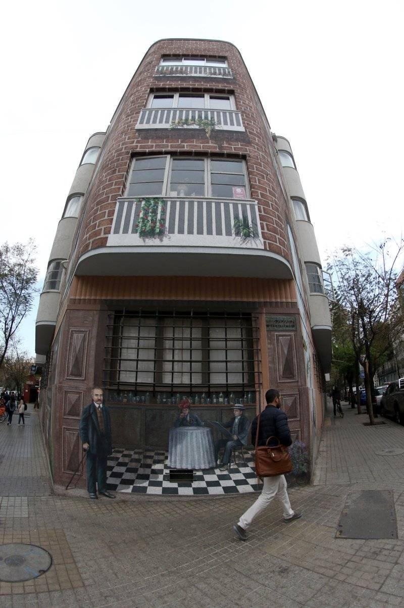Mural de Luis Núñez en Barrio Lastarria