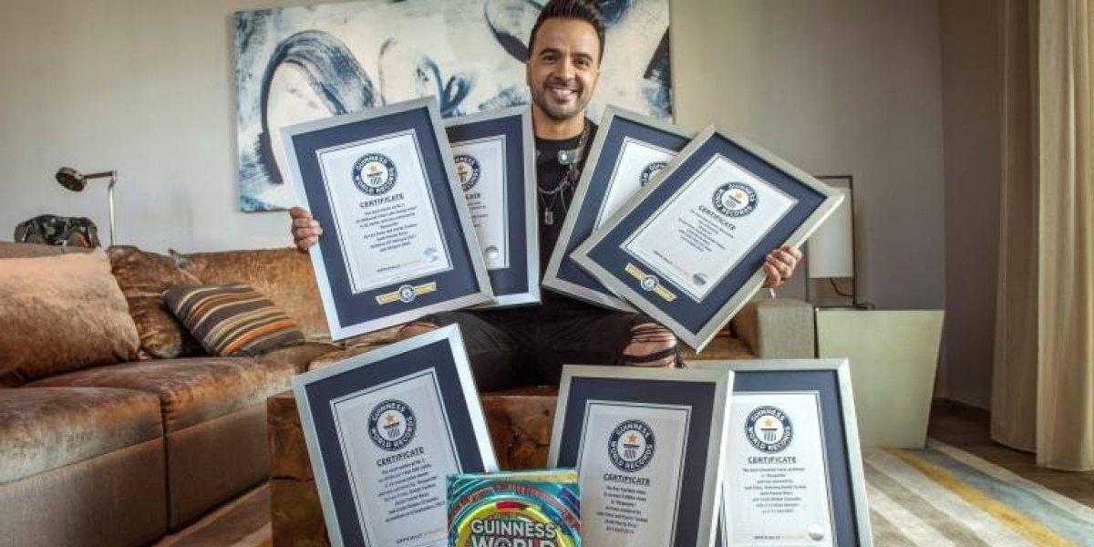 """Luis Fonsi obtiene siete récords Guinness con su tema """"Despacito"""""""