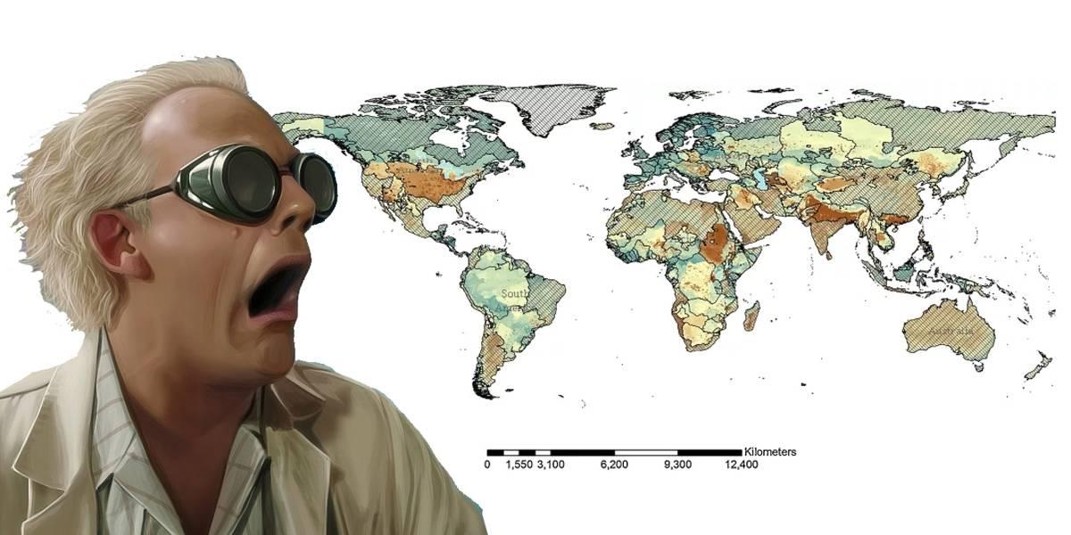 Este mapa predice donde habría guerras por el agua en los próximos años